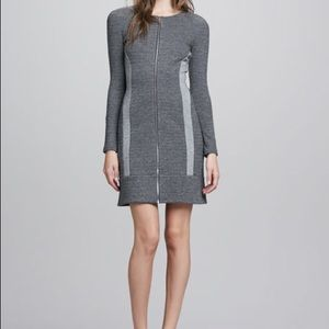 THEORY TWO TONE FRONT ZIP DRESS Sz 10